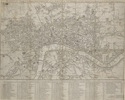 Harris's plan of London, Westminster and the borough of Southwark with all the additional streets, squares &c.; also the improved roads, to the year 1794